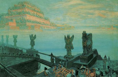 "Saturn stations Retrograde. Art: ""Babylon"", by František Kupka"