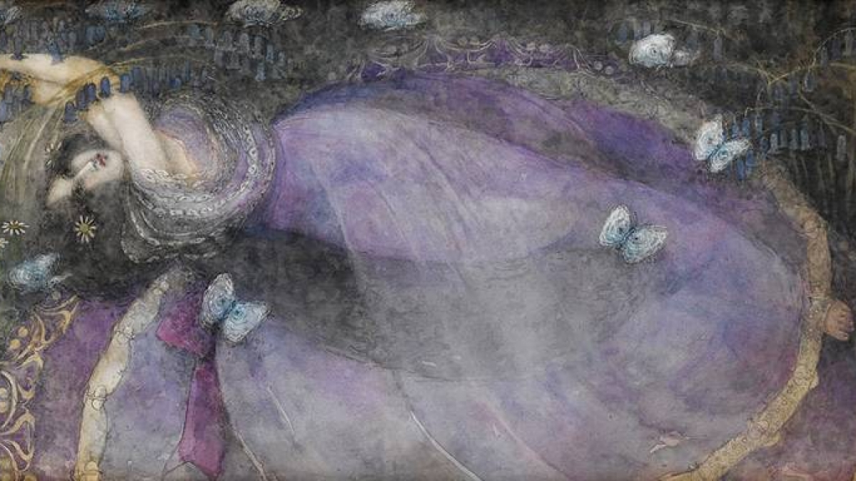 New Moon in Cancer. Painting by Frances MacDonald.