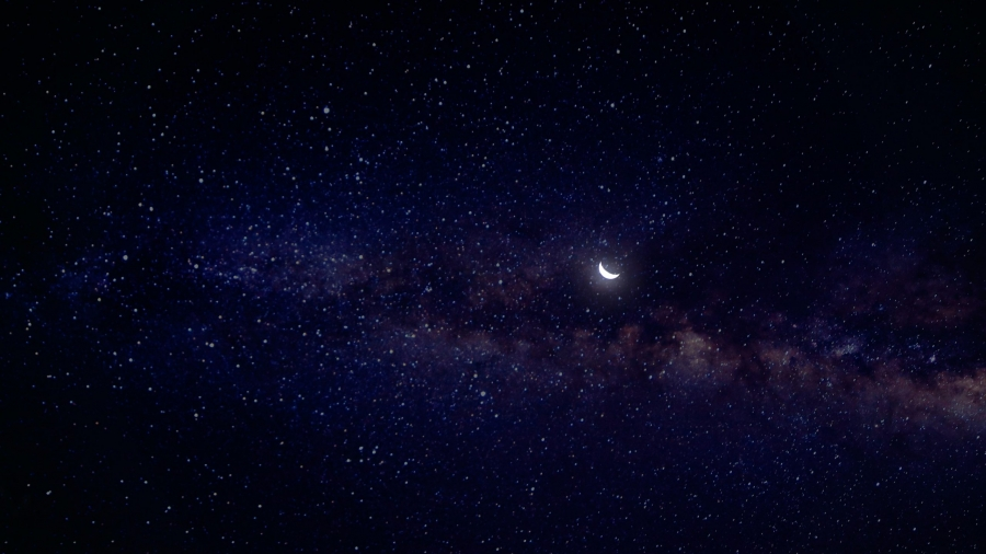 New Moon in Aquarius. Picture by Min An on Pexels.